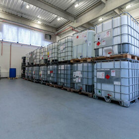 Warehouse-with-chemicals-in-IBC-containers.-IBC-is-used-for-storage-and-transport-of-chemicals